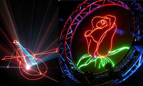 Лазерное шоу в Киеве
